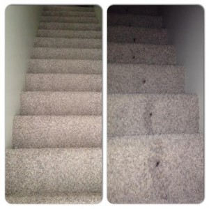 Before and After pictures of the stairs
