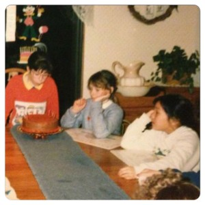 My 9th birthday party with two of my of long-time friends, Cory & Julie. (1988)