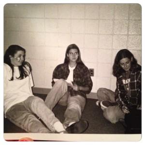 Me, Tara & Cory in high school (1995)