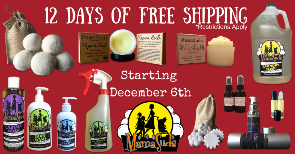 12 Days of FREE SHIPPING